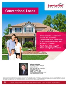Most of our competitors require 20% down. We offer conventional home loans with as little as 3% down.