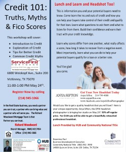 Credit 101 Lunch and Learn and Headshot event | Call 214-945-1066