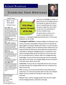 Divorcing Your Mortgage Newsletter July 2017