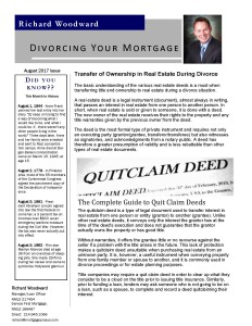 Divorcing Your Mortgage August 2017