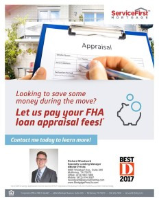 let us pay your FHA loan appraisal fees