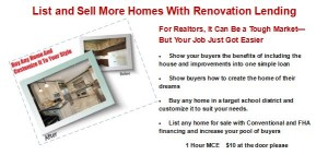 Sell More Homes With Renovation Lending