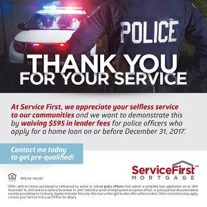 Service First Cares C. O. P. S. initiative