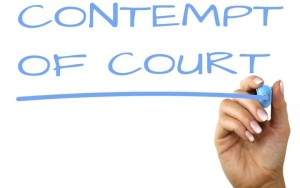 Contempt of Court after divorce