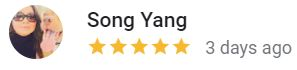 Great Customer testimonial Yang