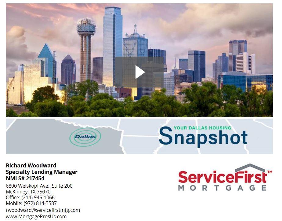 Dallas Metro Housing Statistics Video August 2017