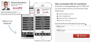 Mobile Mortgage Calculator for the Richard Woodward Team