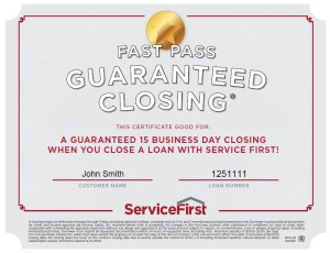 15 Business Day Closing Guarantee