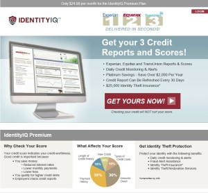 IdentityIQ credit monitoring